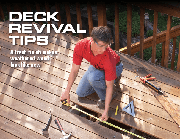 Tips For reviving a wood deck